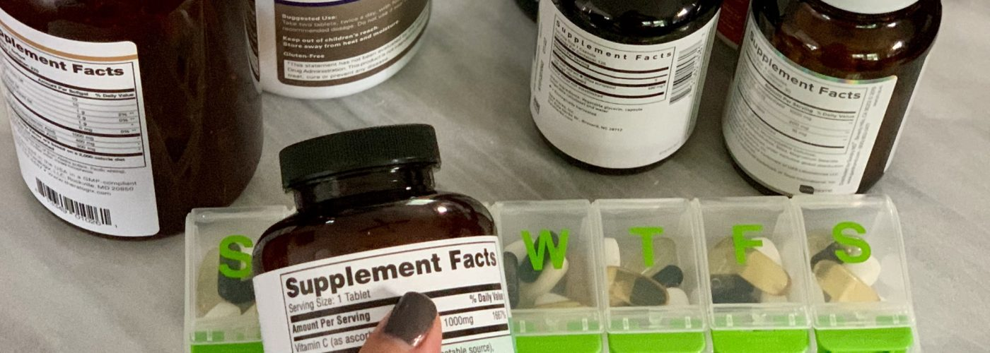 Checking the label on nutritional supplements - vitamins